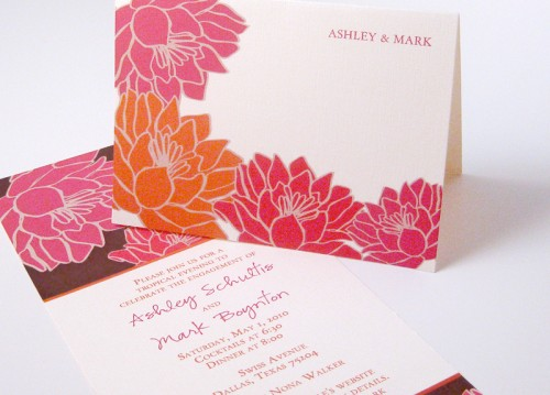 Including flowers as part of the wedding invite is not only a beautiful idea