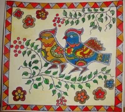 madhubani art used for wedding gifts