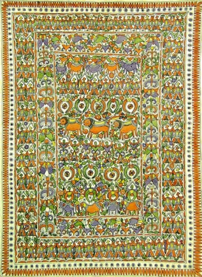 madhubani painting used as wedding gifts