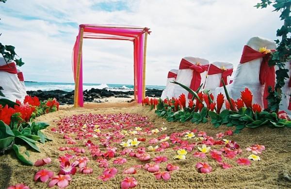 beach wedding in India