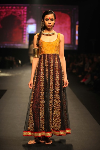 Model at Ritu Kumar show in Mumbai