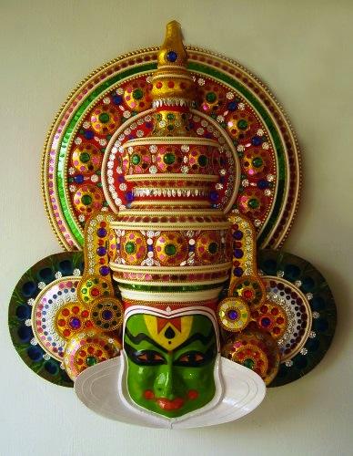Kathakali mask kerala wedding