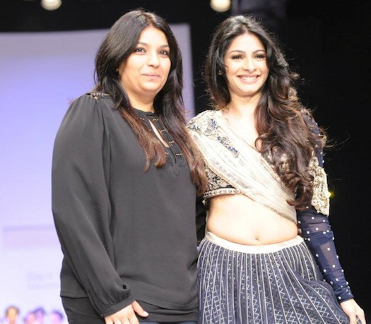 Payal Singhal and Tanisha Mukerjee at Lakme Fashion Week 2012
