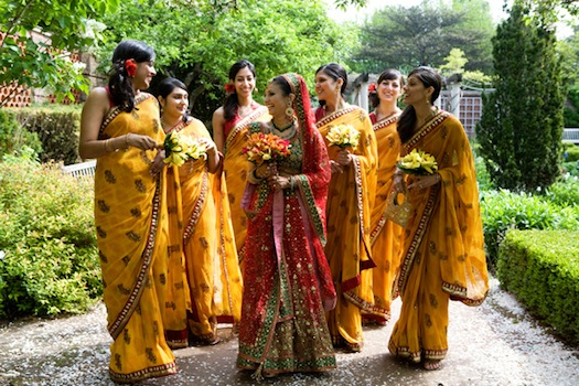 Colorful-Indian-Bridesmaids