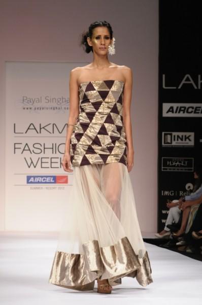 Designer Payal Singhal showing at Lakme Fashion week