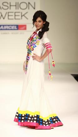 model in Archana Kochhar  at Lakme Fashion Week 2012