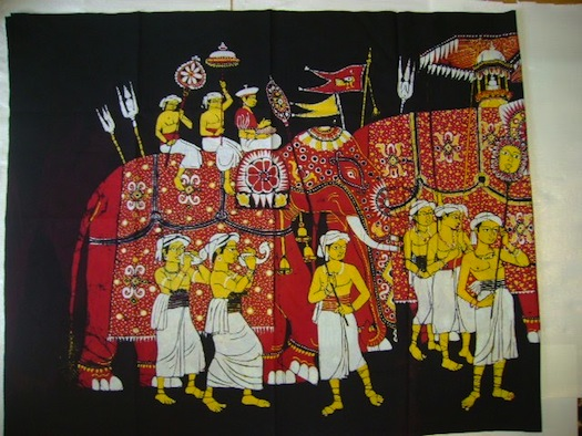 batik work from west Bengal