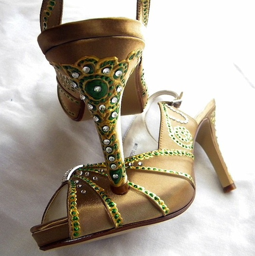 Wedding Shoes for an Indian bride