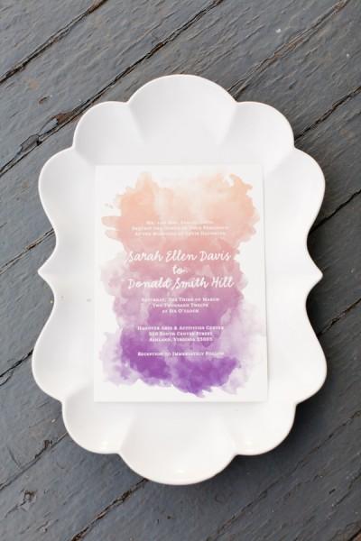 ombre inspiration wedding invite