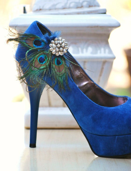 peacock-wedding-theme-wedding-shoes