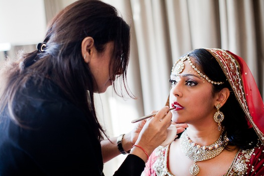 indian wedding make up artist