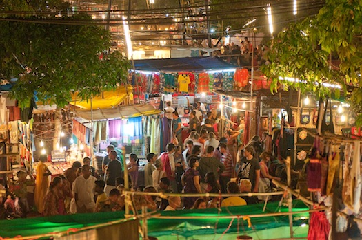 Saturday night market in Goa