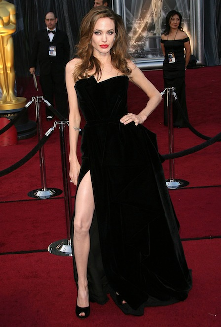 Angelina Jolie red carpet with Slit