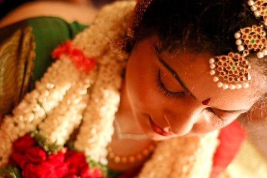 south Indian bridal look