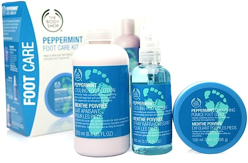 body shop pepermint set for bridal survival kit