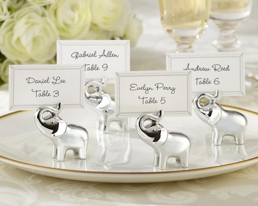 elephant used in wedding table pieces