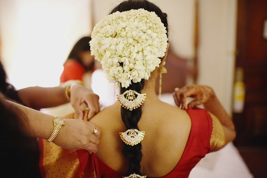 South indian-bride's hair