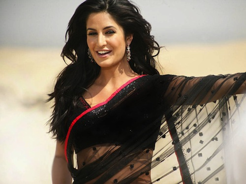 katrina Kaif in Singh is King saree
