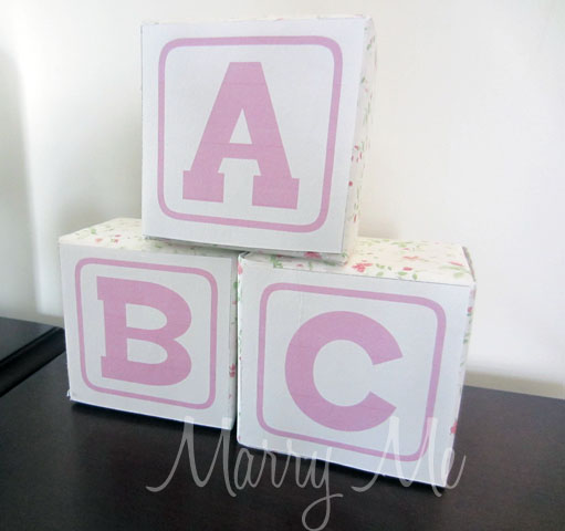 Baby shower block cake ideas and designs for Alphabet blocks cake decoration