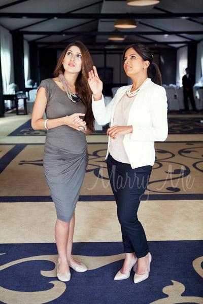 Candice Pereira with real bride Supriya Hiremath
