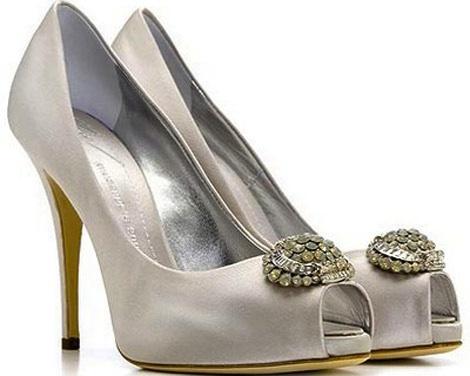 Giuseppe Zanotti white leather peep toes