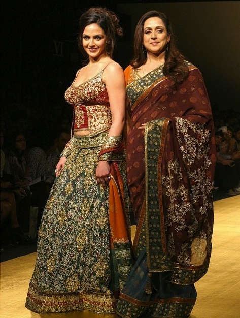 Hema Malini and Esha Doel walk the ramp for Rocky S