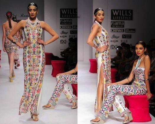 Malini Ramani mirror work at Wills Lifstyle Fashion Week
