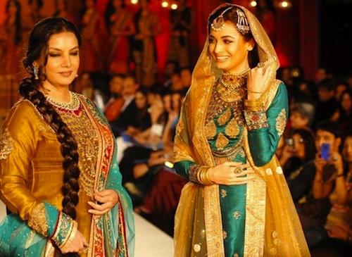 Shabana Azmi and Diya Mirza walk ramp for Ritu Kumar