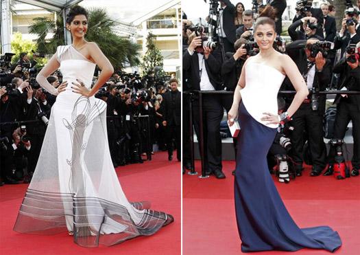 Sonam Kapoor & Aishwarya Rai at Cannes 2011