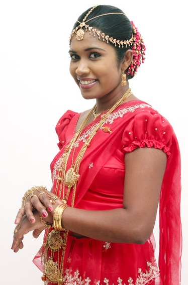 Sri Lankan bride after her wedding