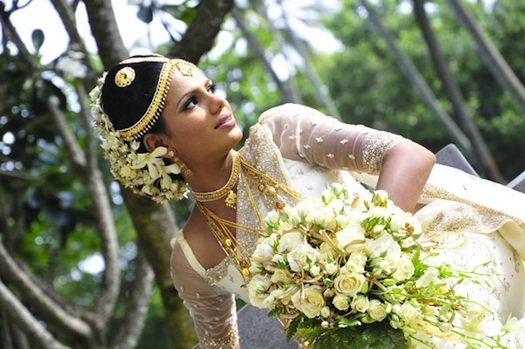 on Sri Lankan brides and were fascinated by their wedding look