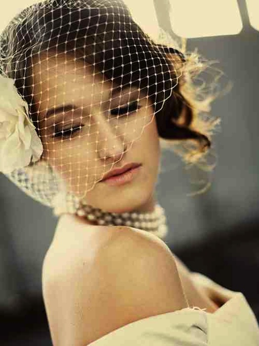 bridal hats with Viel