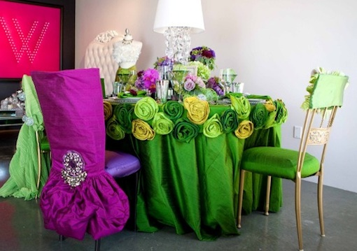 chairs decorated for Indian wedding