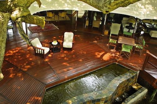 outdoor deck Hamiltons in Kruger National Park