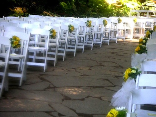 flower wedding chair decor