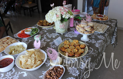 food setup for baby shower