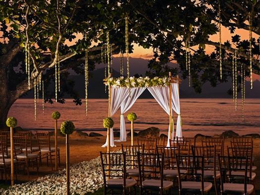outdoor wedding Indian mandap