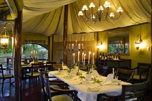 restaurant inside Hamiltons in Kruger National Park