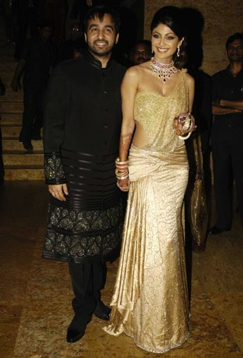 shilpa shetty wedding reception look