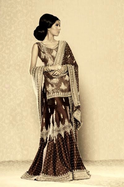Simple Gharara Choli for Indian wedding