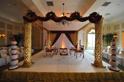 wedding mandap from Indian wedding