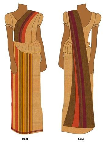 wedding saree drape Sri Lanka