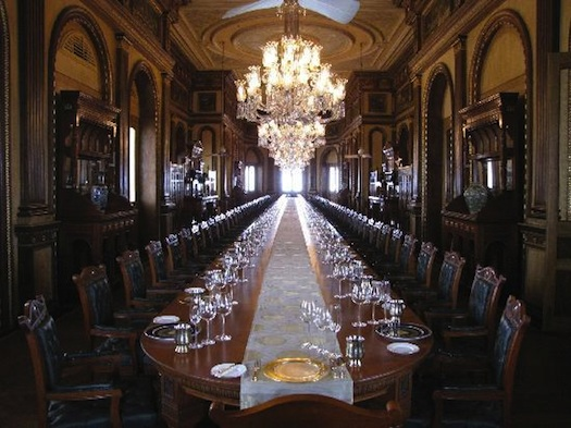 Dining Room inside Taj Falaknuma Palace