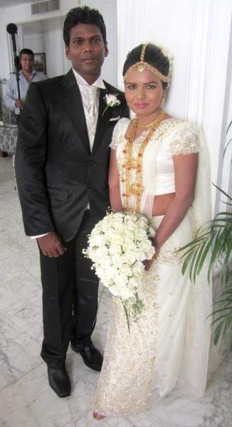 Sinhalese bridal look