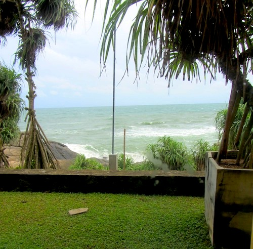beach view from the room at Jetwing lighthouse. Galle