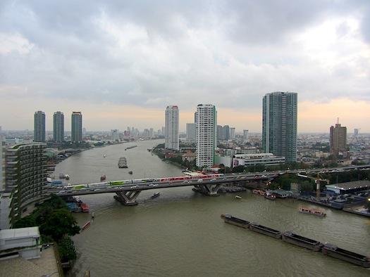 view from our room at Shangri La Bangkok