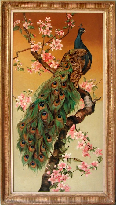 Indian painting of a peacock