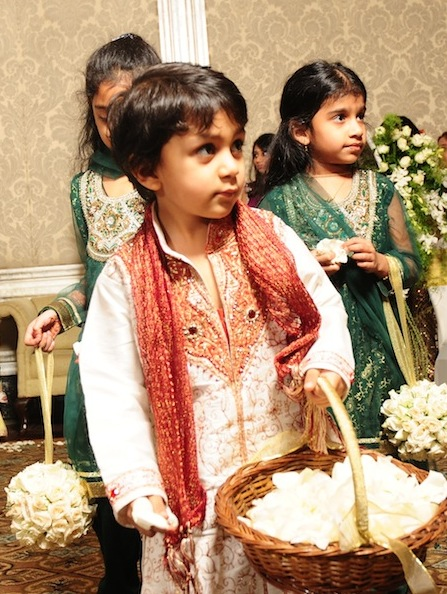 kids at Indian wedding