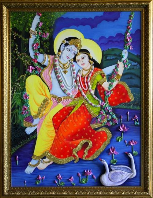 Radha Krishna themed wedding