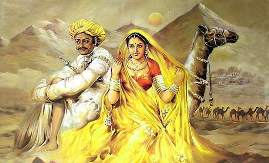Rajasthani art work painting